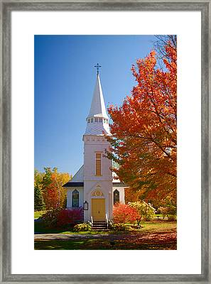 St Matthew's In Autumn Splendor Framed Print