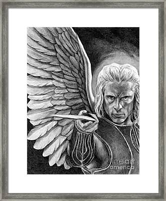 St. Michael Archangel Framed Print by Archangelus Gallery