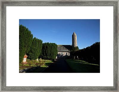 St Patricks Memorial Church At Saul Framed Print by Panoramic Images