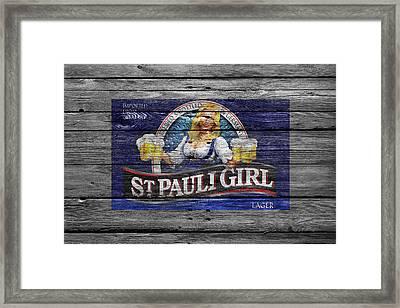 St Pauli Girl Framed Print by Joe Hamilton