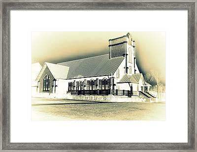 St Peter Lutheran Church Chapin Sc Hdr 2 Framed Print by Lisa Wooten