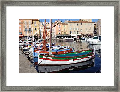 Framed Print featuring the photograph St. Tropez - France by Haleh Mahbod