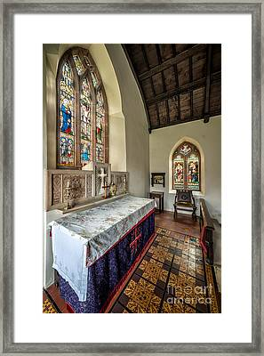 Stained Glass Framed Print by Adrian Evans