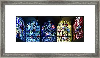 Stained Glass Chagall Windows Framed Print