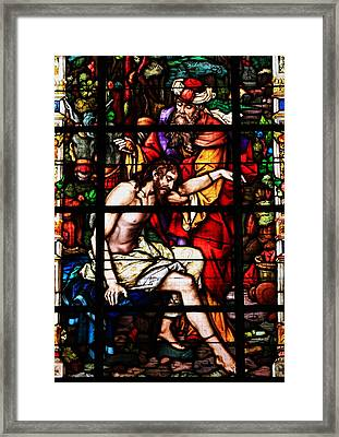 Stained Glass Window  Framed Print by Aidan Moran