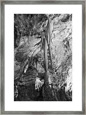 Stalactites And Stalagmites Framed Print by Melany Sarafis