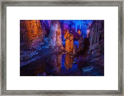 Stalactites At Avshalom Cave Israel Framed Print
