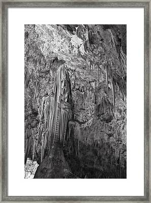 Stalactites In The Hall Of Giants Framed Print by Melany Sarafis