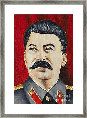 Stalin Framed Print by Michal Boubin