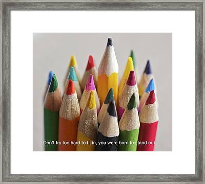 Stand Out Among The Colors Framed Print