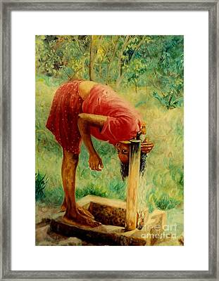 Stand Pipe Framed Print