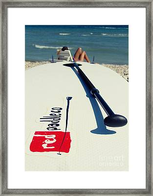 Stand Up Paddle Boards Framed Print by Stelios Kleanthous