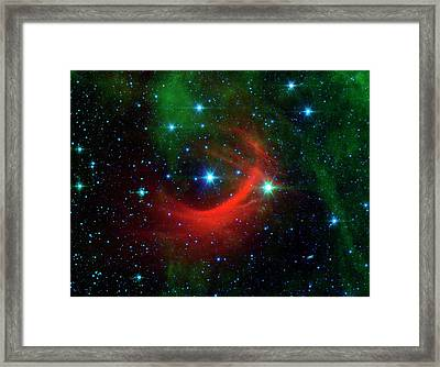 Star Shock Wave Framed Print