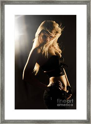 Star Super Model In Fashion Limelight Framed Print