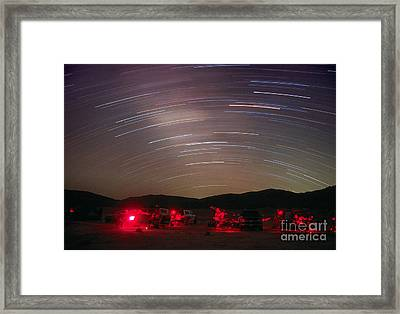 Star Trails Framed Print by Chris Cook