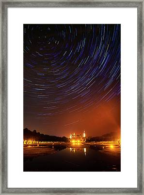 Star Trails Over Schwerin Palace Framed Print by Babak Tafreshi