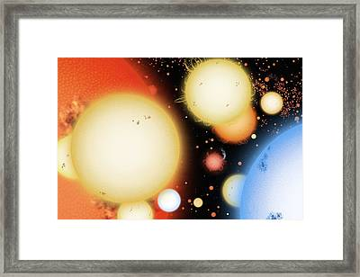 Star Types, Artwork Framed Print by Science Photo Library
