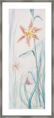 Framed Print featuring the painting Stargazer Lily by Cathy Long