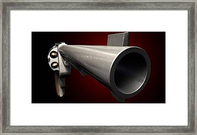 Staring Down The Barrel Of A Gun Framed Print by Allan Swart