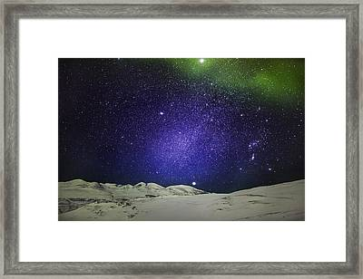 Starry Evening With The Aurora Borealis Framed Print by Panoramic Images