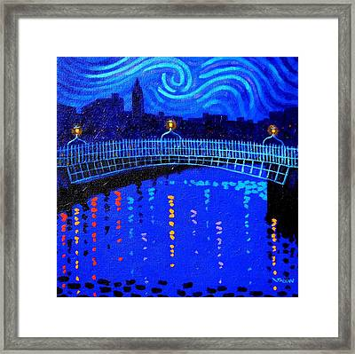 Starry Night In Dublin Framed Print by John  Nolan
