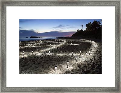 Stars On The Sand Framed Print