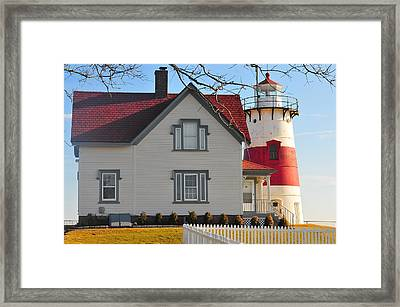 Startford Point Light 1 Framed Print by Catherine Reusch Daley