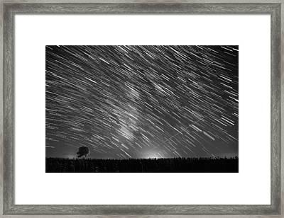 Startrail In Alentejo Framed Print by Andre Goncalves