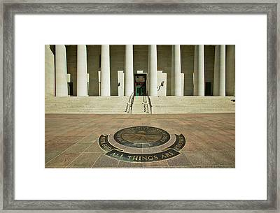 State Capitol Of Ohio, Columbus Framed Print