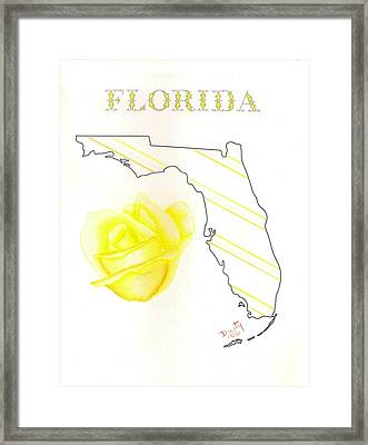 State Of Florida Framed Print by Dusty Reed