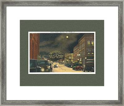 State Street Bristol Va Tn 1920's - 30's Framed Print