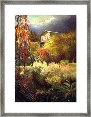 Station Sharapova Okhota September 2014 Framed Print