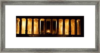 Statue Of Abraham Lincoln Framed Print by Panoramic Images
