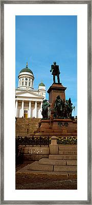 Statue Of Alexander II In Front Framed Print