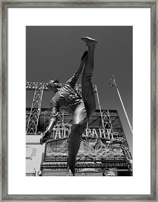 Statue Of Juan Marichal Outside Atandt Park San Francisco Framed Print by Mountain Dreams