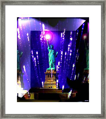 Statue Of Liberty Framed Print by Daniel Janda