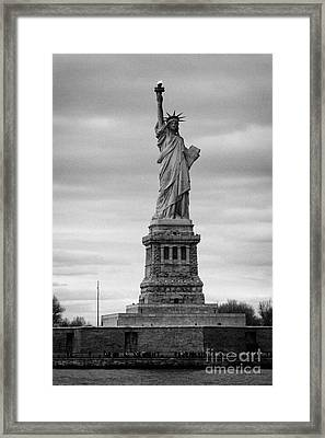 Statue Of Liberty Liberty Island New York City Framed Print