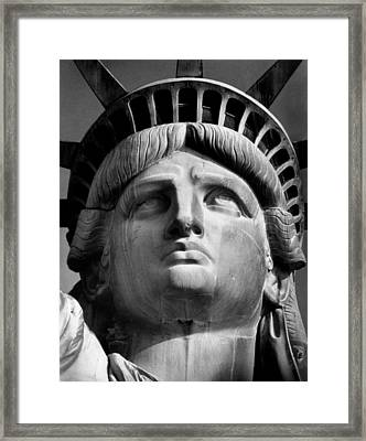 Statue Of Liberty Framed Print by Retro Images Archive