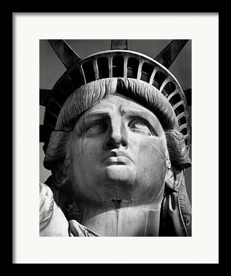 Statue Portrait Framed Prints