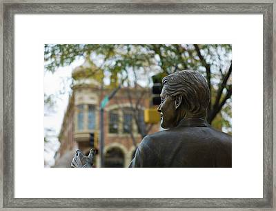 Statue Of Us President Bill Clinton Framed Print