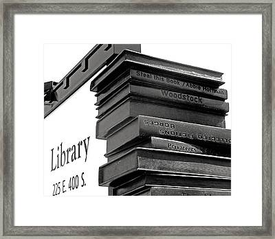 Steal This Book Framed Print by Rona Black