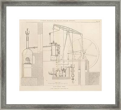 Steam Engine Design Framed Print by King's College London
