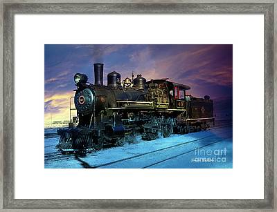 Framed Print featuring the photograph Steam Engine Nevada Northern by Gunter Nezhoda