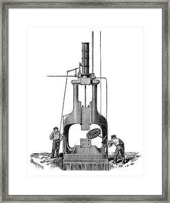 Steam Hammer Framed Print by Science Photo Library