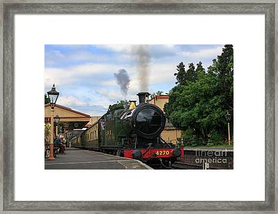 Steam Locomotive 4270 Arrives At Toddington Station Framed Print by Louise Heusinkveld