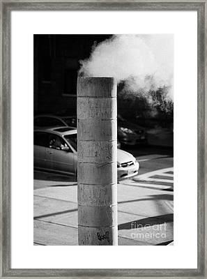 Steam Pipe Vent Stack New York City Framed Print