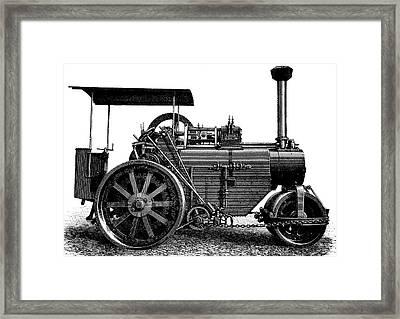 Steam Road Roller Framed Print by Bildagentur-online/tschanz