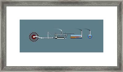 Steamboat, Artwork Framed Print