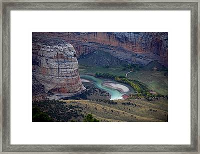 Steamboat Rock Framed Print