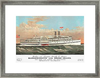 Steamship Massachusetts Framed Print